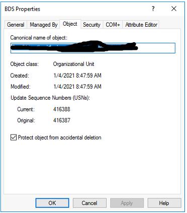 Khong xoa duoc OU trong server 2016
